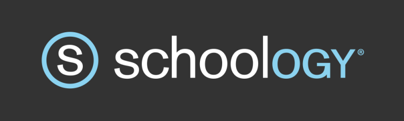 "Schoology Logo, the letter S in a circle with the title ""Schoology"" written under it"