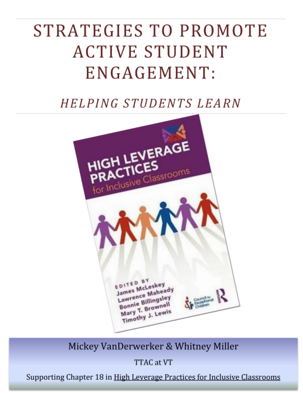 Strategies to Promote Active Student Engagement Cover