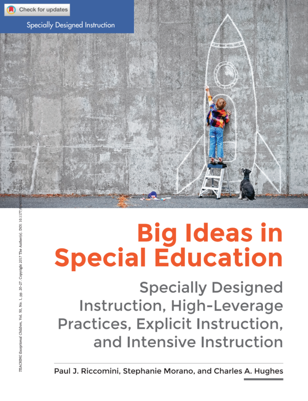 Big Ideas in Special Education Cover